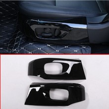 For Land Rover Discovery Sport 2015-2017 Abs Plastic Gloss Black Car Seat Cover Trim Accessories 2pcs решетка радиатора gloss narvik black для land rover discovery 5