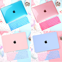 Crystal Transparent Hard Case For Laptop Sleeve MacBook Case Notebook Cover For MacBook Air Pro Retina 11 12 13 13.3 15.4 Inch чехол crystal case для macbook 12