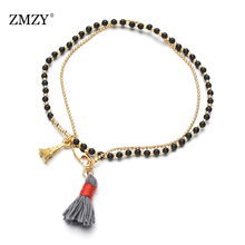 ZMZY Natural Stone Bracelets Bohemian Bracelet Couple Friendship Bracelets for Women/Girls Accessories Jewelry Dropshipping bohemian natural stone gravel bracelets for women 2019 new elastic bracelets jewelry tiger eye opal redstone nuggets bracelets