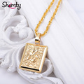 NEW Items Islamic Pendant Necklace Chain Jewelry Women Mohammed Allah Charm gold filled plated arabic middle east