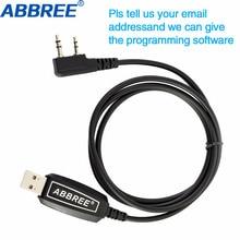 Abbree USB Кабель для программирования Win XP/Win7/Win8/Win10 для ABBREE AR-F6 AR-889G TYT Quansheng рация WOUXUN ручной радио