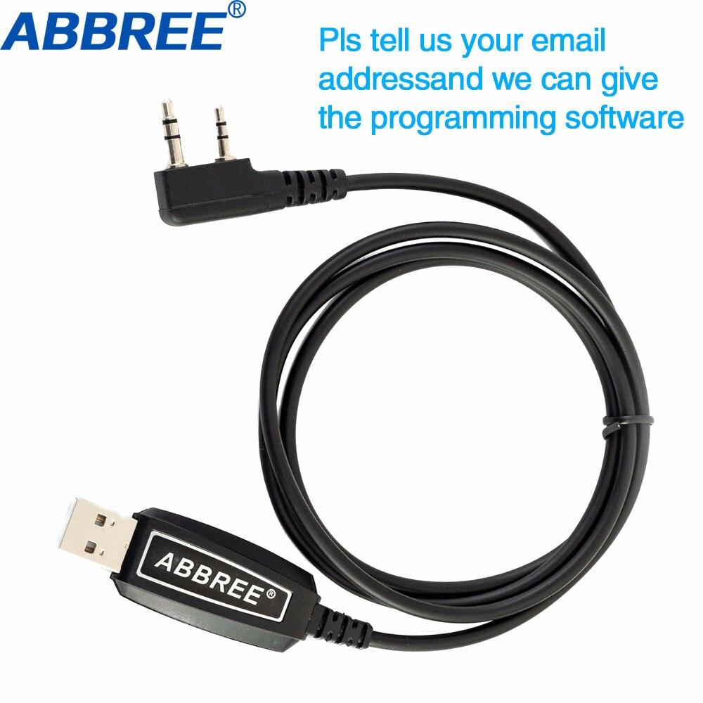 Abbree USB câble de programmation Win XP/Win7/Win8/Win10 pour ABBREE AR-F6 AR-889G TYT Quansheng Wouxun Talkie Walkie radio portable