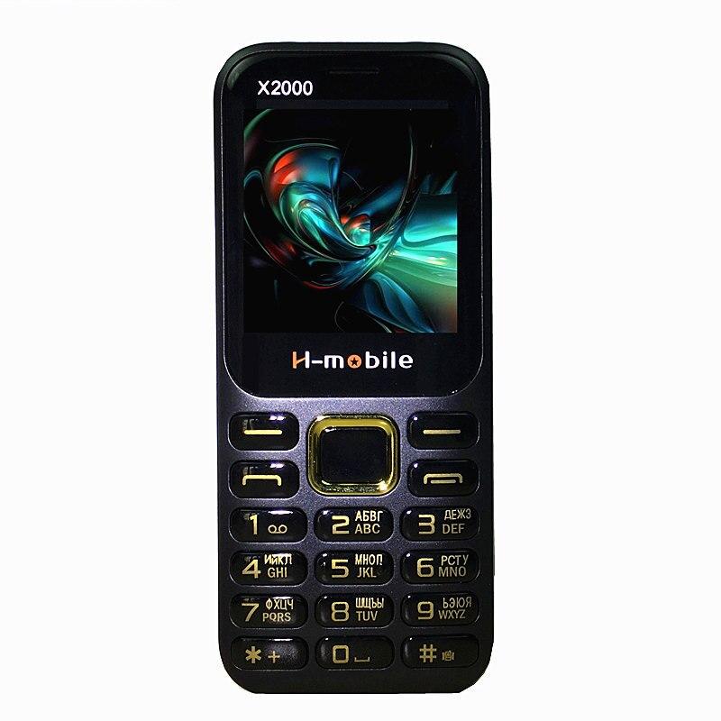 1.8 écran Dual Sim Double Veille Grand 3D Son Mobile téléphone H-mobile X2000 Téléphone Français Russe Langue Clavier russe
