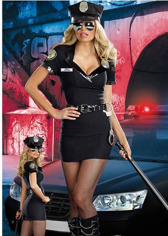 Police women Costume Cosplay Halloween hot selling praty show women Fantasia Fancy Dress ...