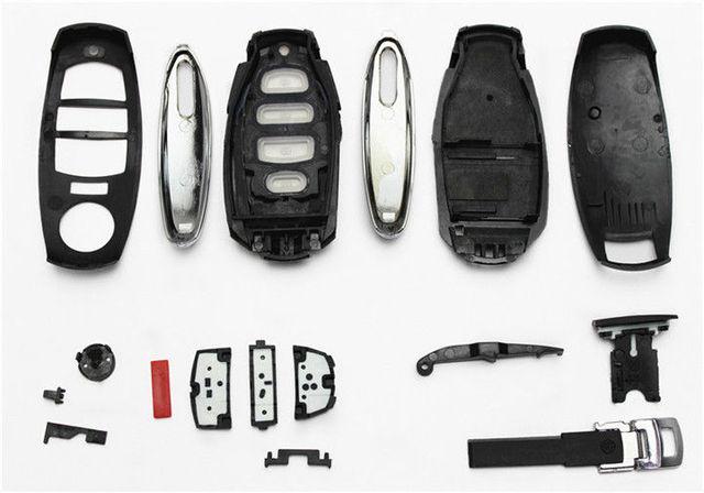 Porte-clés pour VW   1 pièce, 3 boutons, porte-clés sans clé, clé à distance intelligente 3BTN, adapté pour Volkswagen Touareg 2011-2014, porte-clés sans puce