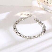 d385ba39bdb2 QianBei 2018 nueva moda Figaro cadena oro plata Color tobillos pulsera  brazaletes joyería para hombres regalos