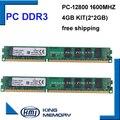 Бесплатная доставка DDR3 1600 МГц 4 ГБ (Комплект из 2, 2X ddr3 2 ГБ) PC3-12800 Новый работа для всех настольных компьютеров mothebroard