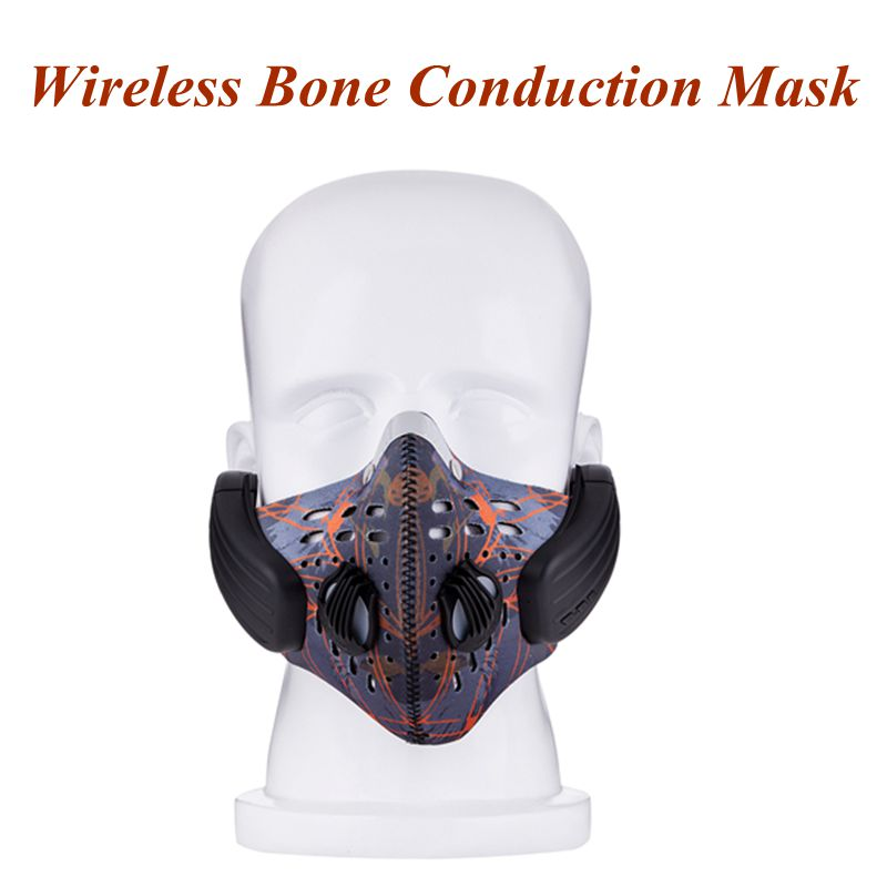 Wireless Bluetooth Earphone with Mic face Mask Anti Dust Stereo Music Handfree Headset Bone Conduction Headphone for IOS Android rock y10 stereo headphone earphone microphone stereo bass wired headset for music computer game with mic