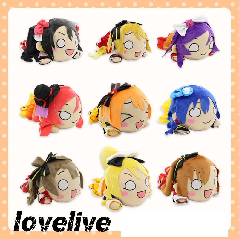 Large 50cm Anime LoveLive Figure Toy Love Live School Idol Project Kotori Minami Maki Nishikino Figures Lying Posture Plush Doll kotori nico eli rin umi maki anime love live lovelive school version rubber keychain