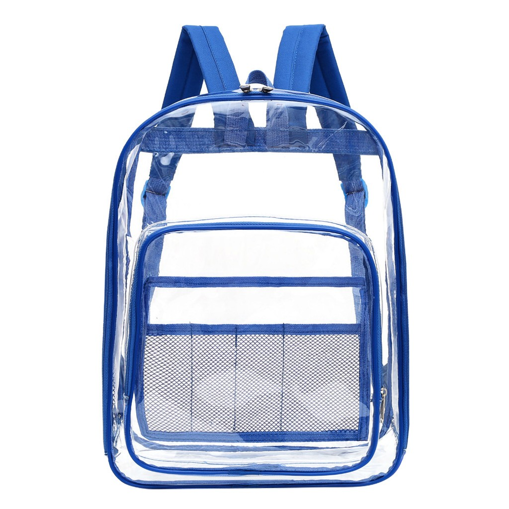 Cute Clear Transparent Women Backpacks PVC Jelly Color Student Schoolbags Fashion Teenage Girls Bag For School Backpack dropship(China)