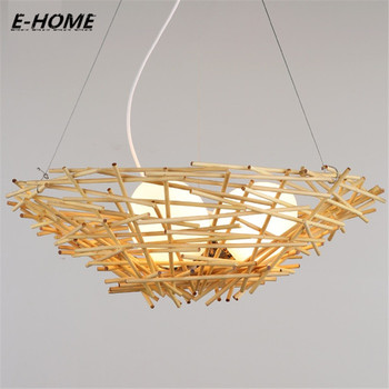 The new Tengyi restaurant decorated chandeliers, creative bird nest decorated with LED lights, 6/7 head
