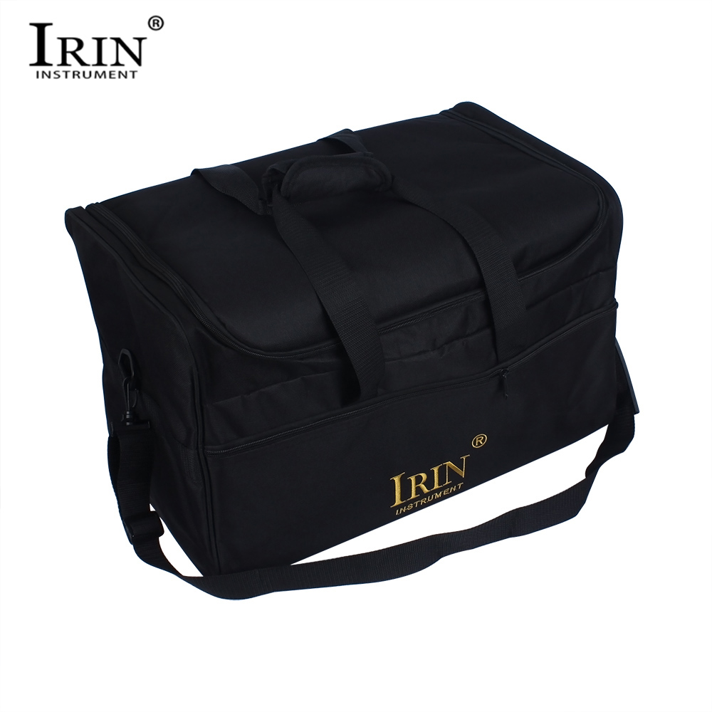 Tireless Irin Adult Cajon Box Drum Bag Backpack Case 600d Cloth 5mm Cotton Padding With Carry Handle Shoulder Strap Percussion Instrument Pure Whiteness