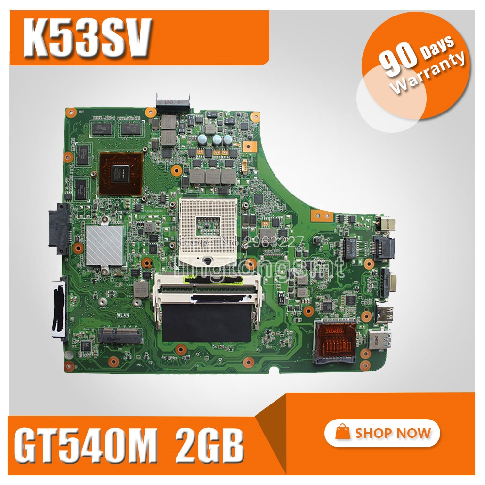 цена на K53Sv Motherboard REV:3.1/3.0 For ASUS A53S A53Sv K53S K53Sc X53S X53Sc Laptop motherboard K53Sv Mainboard K53Sv Motherboard