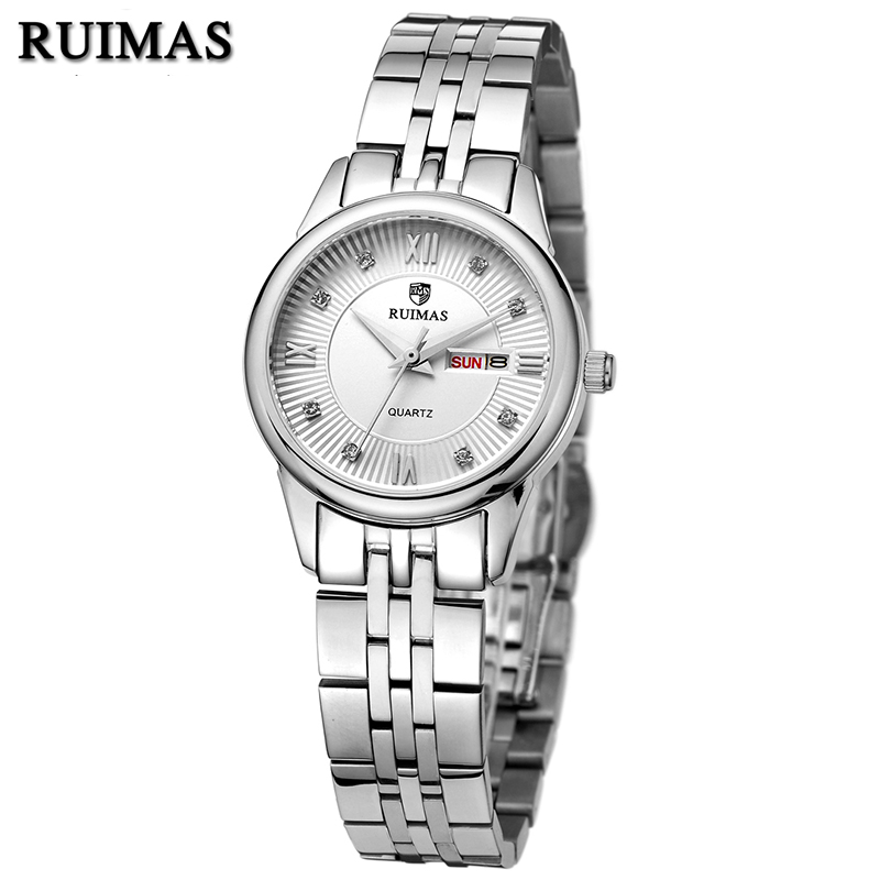 RUIMAS Luxury Women Watches Top Brand Fashion Stainless Steel Quartz Watch for Ladies Girl Female Relogio Feminino Montre Femme  ruimas original ladies watch top brand luxury quartz women watches reloj mujer montre femme for female relogio feminino