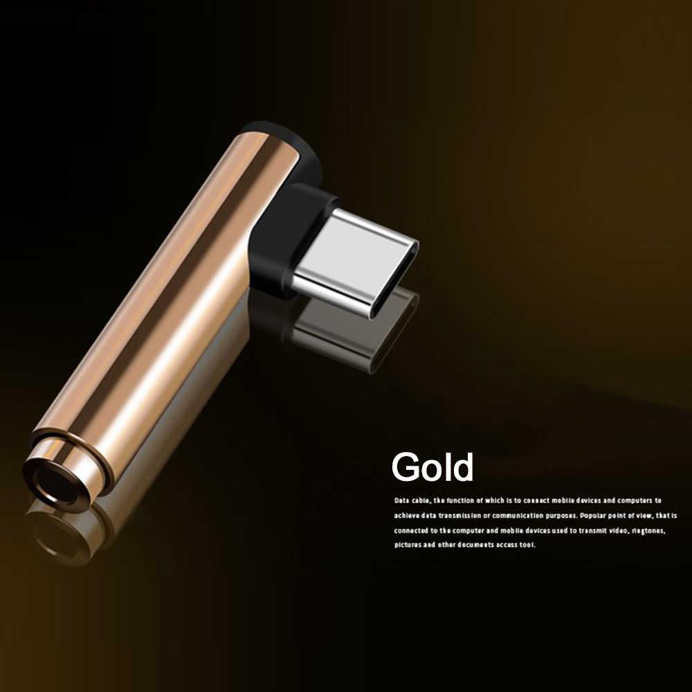 الجملة USB نوع C إلى 3.5 مللي متر محول مقبس سماعة الرأس AUX محول الكابل لسامسونج LG شاومي انخفاض الشحن