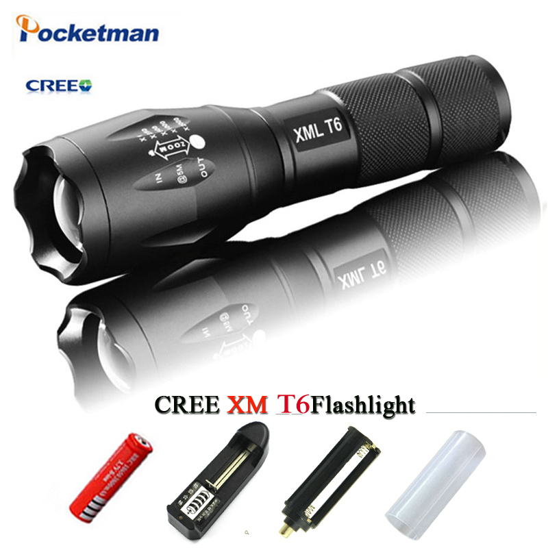 LED Flashlight CREE XM L T6 L2 3800 Lumens Rechargeable ...
