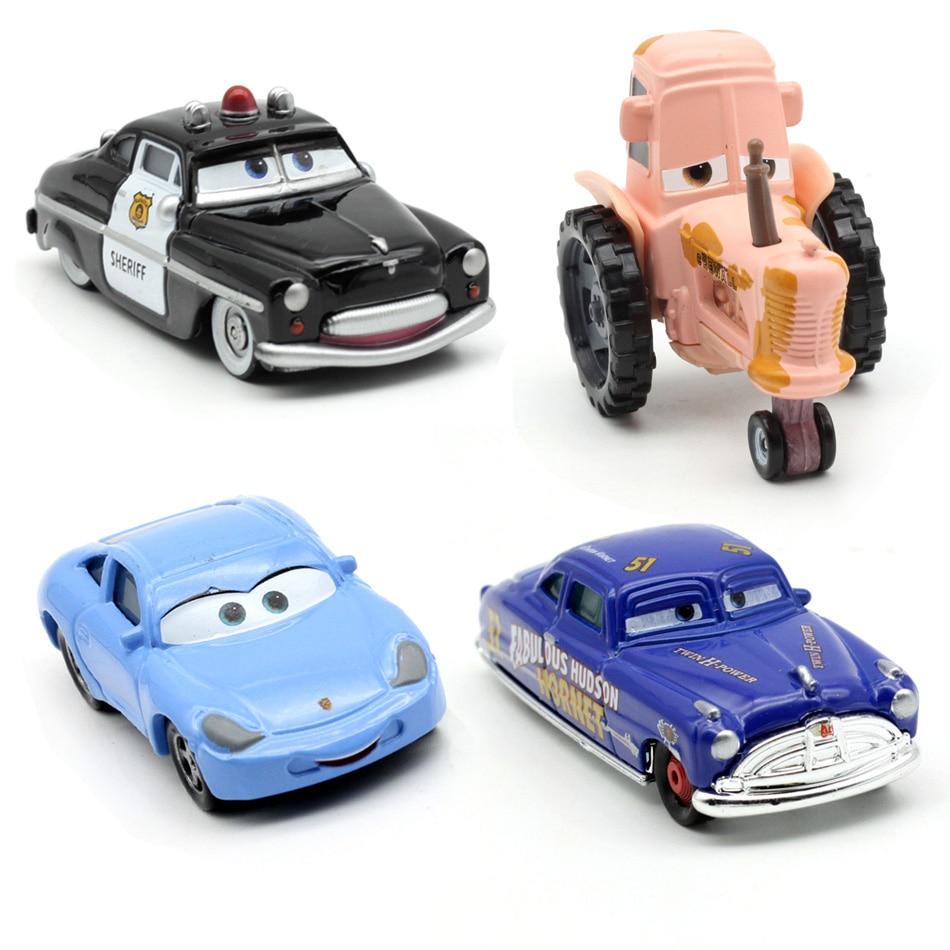20 Style DisneyCars Pixar Cars Mavericks sheriff Sally MaterVehicle 1:55 Diecast Metal AlloyToys ModelCar Birthday Gift For Kids