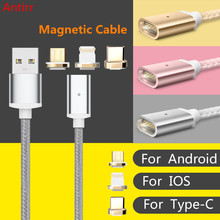 Fast Nylon Magnetic Cable Micro Usb Cable for iPhone 6 6s 7 Plus 5s 5 Lightning Cable Android Samsung Micro charger Cable #40