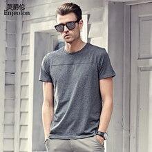Enjeolon brand 2017 new short sleeve cotton t font b shirts b font solid O collar