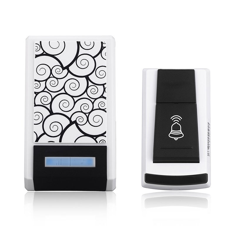 New Waterproof Smart Wireless Doorbell with One Receivers DC Door Bell Button 36 Chimes 100m Range for Home Office  LCC77 kinetic cordless smart home doorbell 2 button and 1 chime battery free button waterproof eu us uk wireless door bell