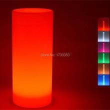 Waterproof multicolor Height 75 CM LED Large Tower Pillar Floor lamp outdoor round S column lights of landscape lighting