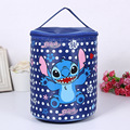Korean Cartoon Cute Round Portable Lunch Box Bag Children Girls  Waterproof Lunch Picnic Bag Tote Insulated Cooler Travel Zipper
