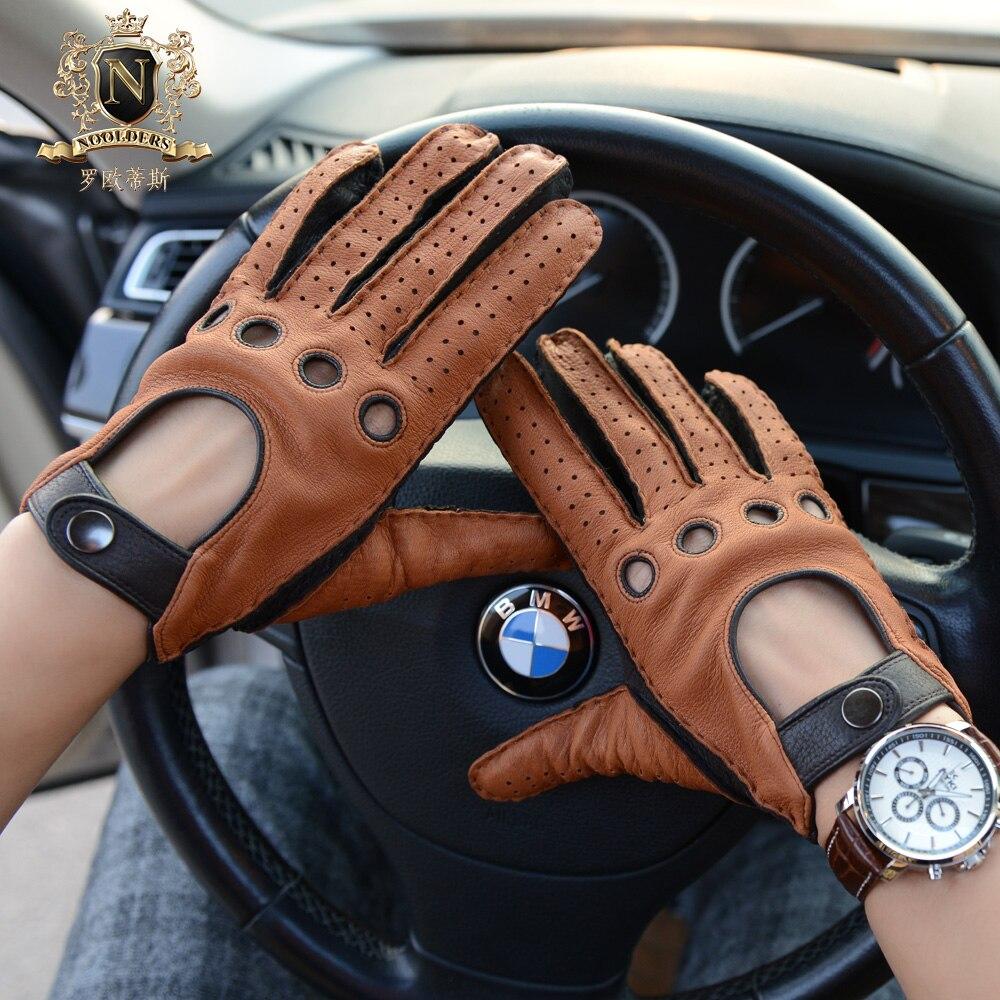 Moda Otoño Invierno hombre Deerskin guantes Vintage locomotora guantes motocicleta cuero guantes hombre M55