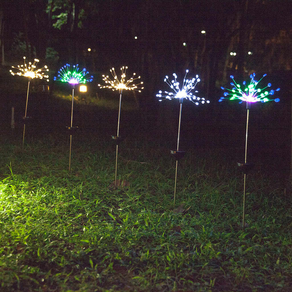 2019 新着 90 スノーフレーク led 太陽光発電ガーデンライトクリスマスライト屋外花火 LED 芝生ランプドロップシッピング