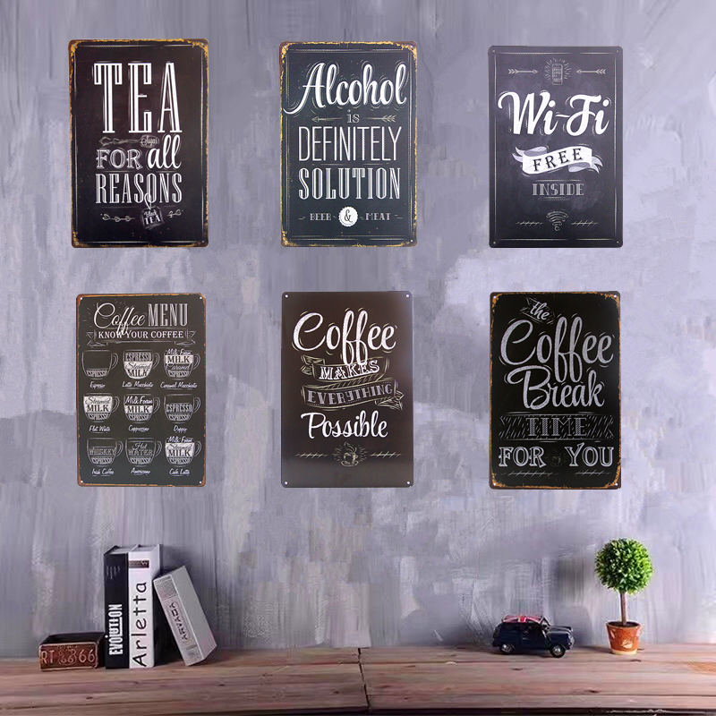 Coffee Bar Signs Signage