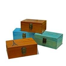 Креативный натуральный деревянный ящик для хранения, записная книжка, герметичный замок, коробка для ювелирных изделий ручной работы, свадебный подарок, украшения дома, аксессуары