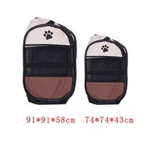 2 Sizes Portable Pet Cat Dog House Cage Folding Dog Outdoor Bed Tent Breathable Big Space Kennel For Small Medium Dogs