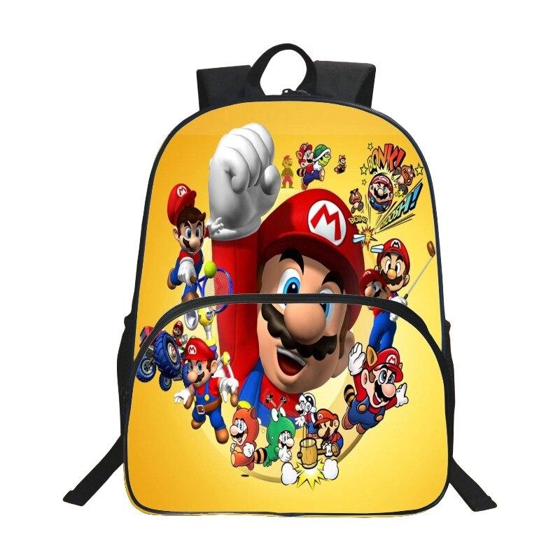 Лидер продаж полиэстер 16 дюйм(ов) печати Прохладный герой детей школьные сумки для мальчиков-подростков Школа Рюкзак Мультфильм дети bookbag ...
