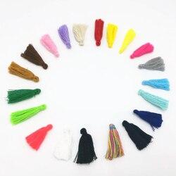 100 pièces mélange couleur 30mm tissu gland pour porte-clés téléphone portable sangles bijoux charmes coton glands bricolage Accessoire