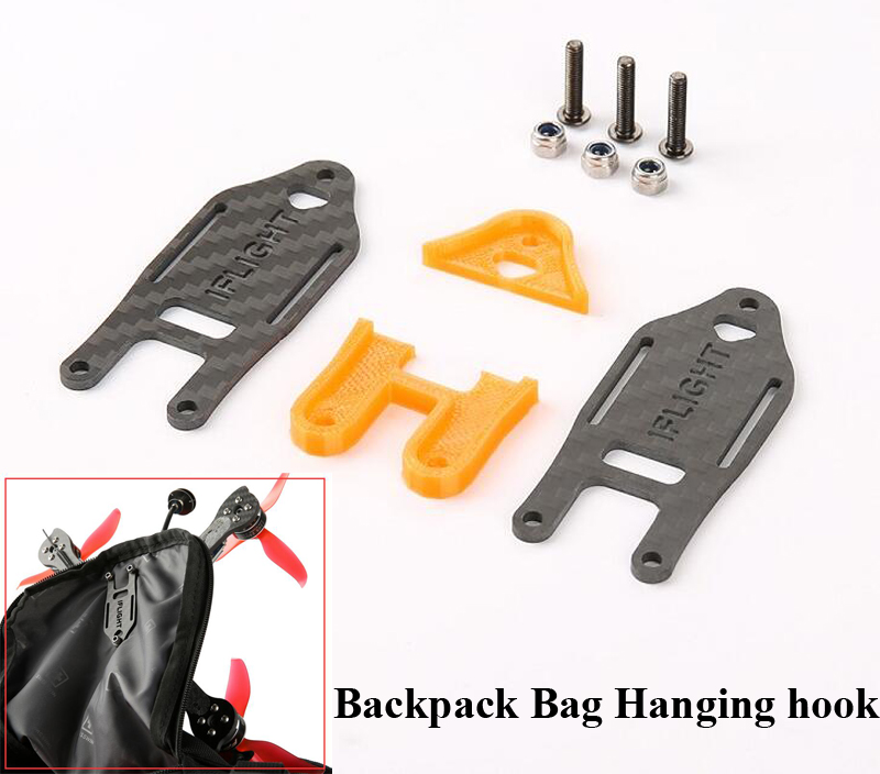 1set 3D Printed DIY Racing Quadcopter Drone Hanging Bag hook Easy-Carry Bagpack Fixing Hanging Buckle Accessories For RC Hobby