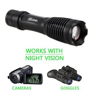 Image 3 - 18650 ir visão noturna lanterna 5w 940nm 5 850nm led zoomable radiação infravermelha lanterna tático caça tocha + arma montagem