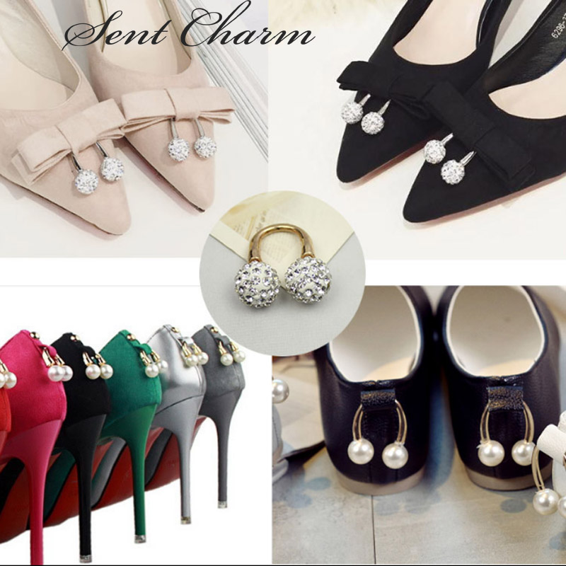 SENTCHARM Pearl Crystal U-shaped Shoes Decoration 2 kinds Elegant Accessorices For Womens High Heel LoafersSENTCHARM Pearl Crystal U-shaped Shoes Decoration 2 kinds Elegant Accessorices For Womens High Heel Loafers