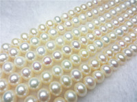 Best selling AAA 8 9mm White Flawless Abacus Freshwater Shell Pearl Loose Beads jewelry Natural Stone 39 40cm Wholesale Price