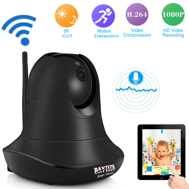 DAYTECH IP WiFi Camera Wireless 1080P Home security Camera Surveillance Baby Monitor Two Way Audio Night Vision Infrared 2MP new wifi ip camera home security camera wireless 720p night vision infrared two way audio baby camera monitor video webcam