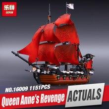 Новый ЛЕПИН 16009 1151 шт. месть Королевы анны пираты карибского моря Образовательные Блоки Набор Совместимость с игрушками 4195