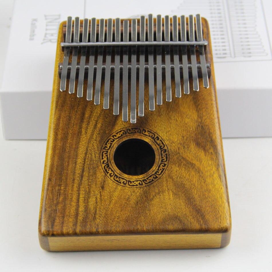 Muku K17K 17 clé Kalimba Solide KOA Piano à pouces Africain Doigt Percussion Clavier Enfants Marimba Bois Naturel