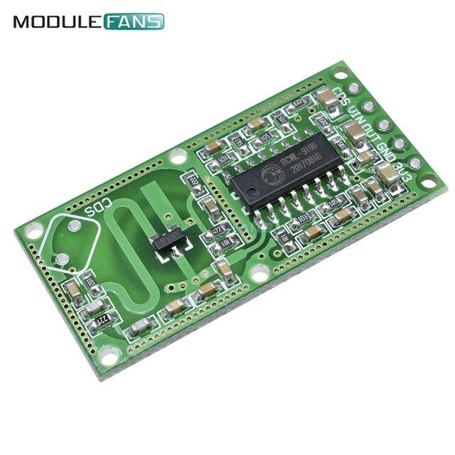 2 piezas RCWL-0516 RCWL 0516 de Radar de microondas Sensor humano del cuerpo del Sensor Módulo de Sensor de interruptor de inducción para salida 3,3 V
