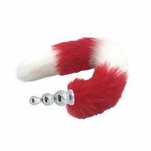Butt Plug Fox Tail   2 Colors Red & White