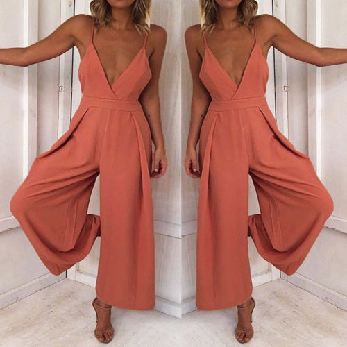 Women Ladies Clubwear Summer Bodycon Jumpsuit Romper Trousers Women Casual Solid Loose Jumpsuits Women Clothes Set