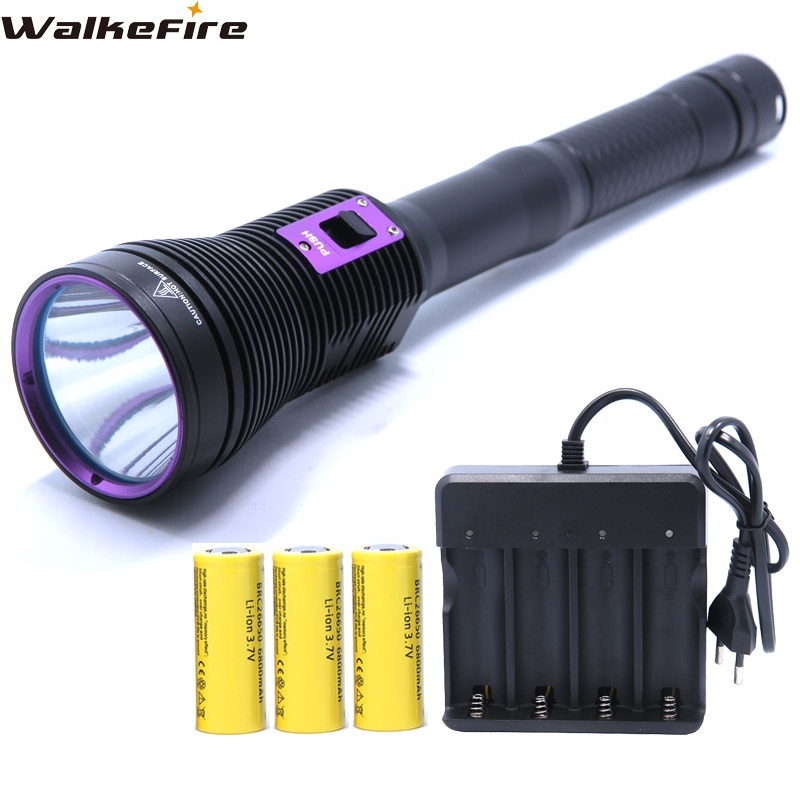 LED Diving flashlight MTG2 5000 LM Flashlight linternas Underwater Waterproof Lamp Torch & 3 * 26650 Battery & 4-slots Charger victoria beckham бермуды
