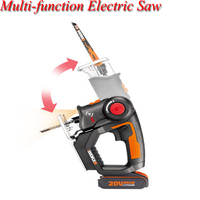20V Curve Reciprocating Saw Multi function Chainsaw Home Small Woodworking Cutting Power Tools With Charger WX550