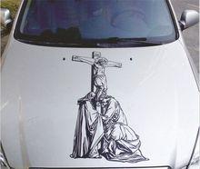 90*45 cm Auto geändert Jesus hood aufkleber türaufkleber decken auto girlande reflektierende personalisierte aufkleber