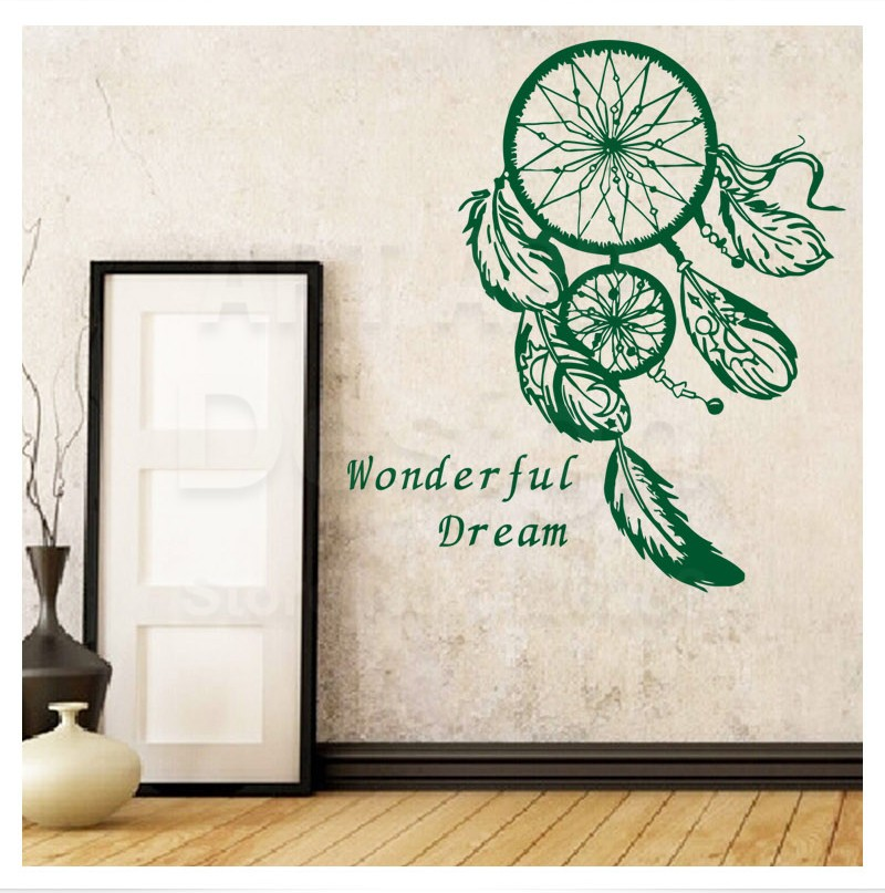 Special Free Shipping Dreamcatcher Wall Sticker Art Design Vinyl Beautiful Mural Home Living Room Decor Decal Y-787