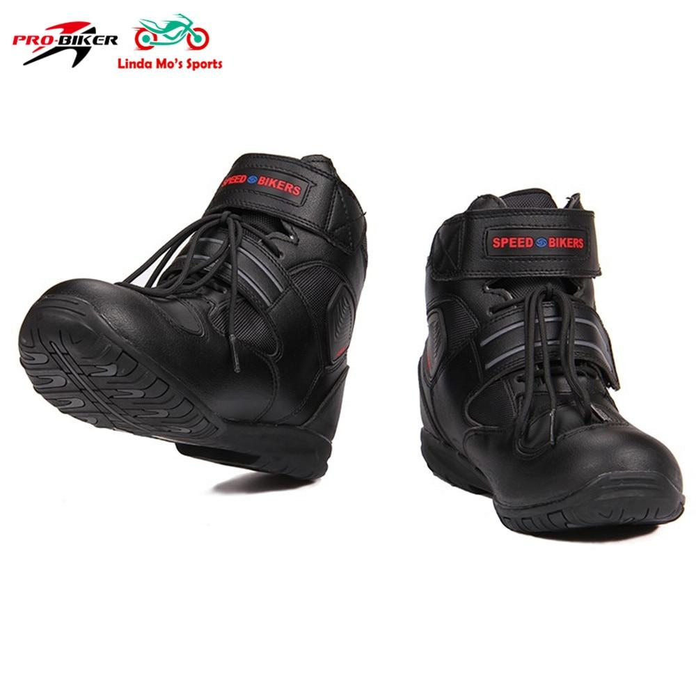 PRO-BIKER Waterproof Motorcycle Boots MTB Off-road Bike Non-slip Moto Racing motorcycle shoes men short Motocross Leather boots