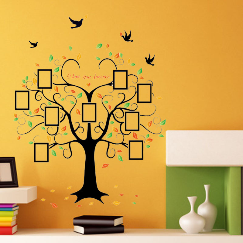 DIY Photo Tree frame PVC Wall Decals/Adhesive Wall Stickers Mural Art Home Decor 60x90cm CP1046