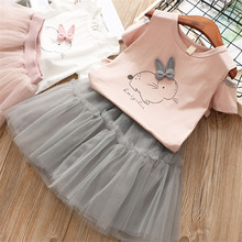 b94198691 Toddler Baby Girls Clothing Sets Summer Clothes T-shirt+Skirt Outfits  Princess Kids Suits